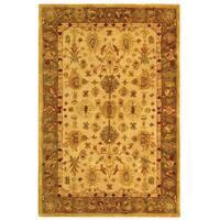 Safavieh Handmade Anatolia Oriental Heirloom Ivory/ Light Green Hand-spun Wool Rug - 4' x 6'
