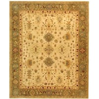 Safavieh Handmade Anatolia Oriental Heirloom Ivory/ Light Green Hand-spun Wool Rug - 8' x 10'