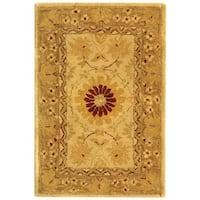 Safavieh Handmade Anatolia Oriental Timeless Ivory/ Sand Hand-spun Wool Rug (2' x 3')