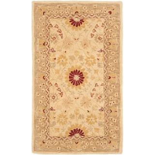 Safavieh Handmade Anatolia Oriental Timeless Ivory/ Sand Hand-spun Wool Rug (3' x 5')