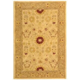Safavieh Handmade Timeless Ivory/ Sand Wool Rug (4' x 6')