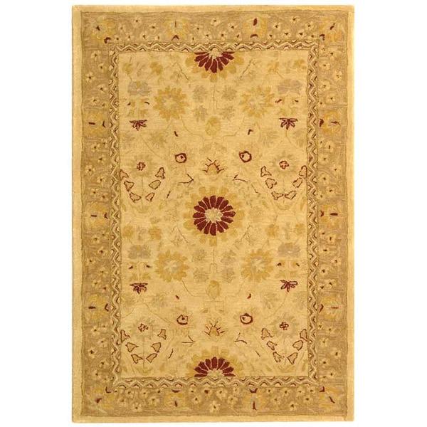 Safavieh Handmade Anatolia Oriental Timeless Ivory/ Sand Hand-spun Wool Rug (4' x 6')