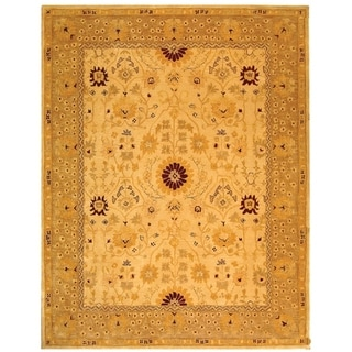 Safavieh Handmade Anatolia Oriental Timeless Ivory/ Sand Hand-spun Wool Rug - 9' x 12'