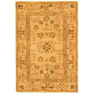 Safavieh Handmade Anatolia Oriental Treasure Sand Hand-spun Wool Rug (2' x 3')