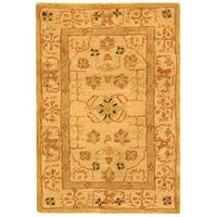 Safavieh Handmade Anatolia Oriental Treasure Sand Hand-spun Wool Rug - 2' x 3'