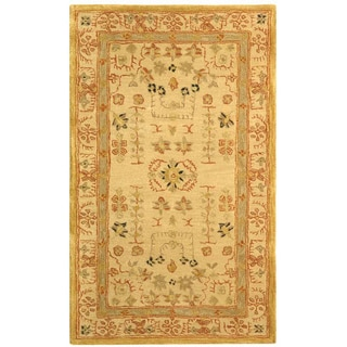 Safavieh Handmade Anatolia Oriental Treasure Sand Hand-spun Wool Rug (3' x 5')