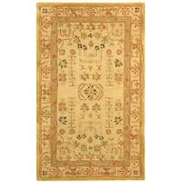 Safavieh Handmade Anatolia Oriental Treasure Sand Hand-spun Wool Rug - 3' x 5'