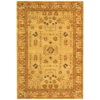 Safavieh Handmade Anatolia Oriental Treasure Sand Hand-spun Wool Rug (4' x 6')