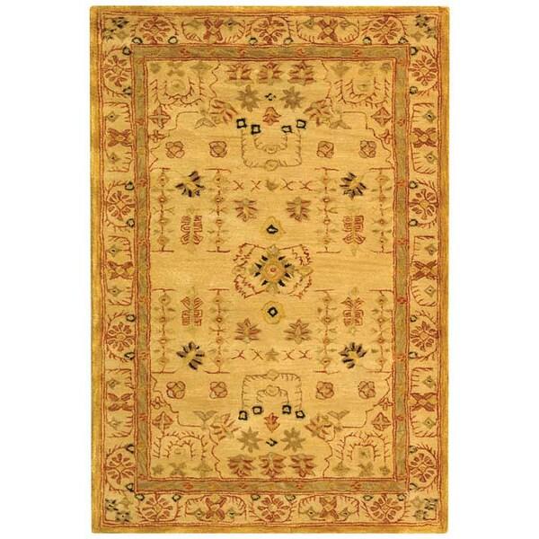 Safavieh Handmade Treasured Sand Wool Rug (4' x 6')