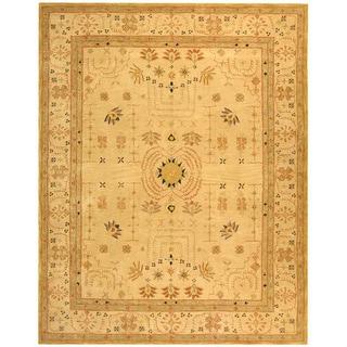 Safavieh Handmade Anatolia Oriental Treasure Sand Hand-spun Wool Rug (6' x 9')