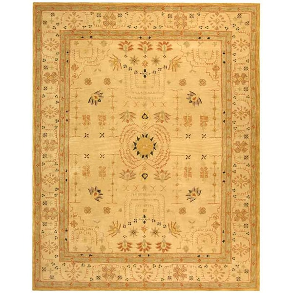Safavieh Handmade Treasured Sand Wool Rug (5' x 8')