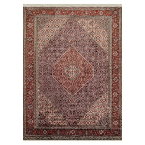 Tabriz Hand Knotted Navy,Rust Wool Persian Oriental Area Rug (8x10) - 08' 01'' x 11' 01''
