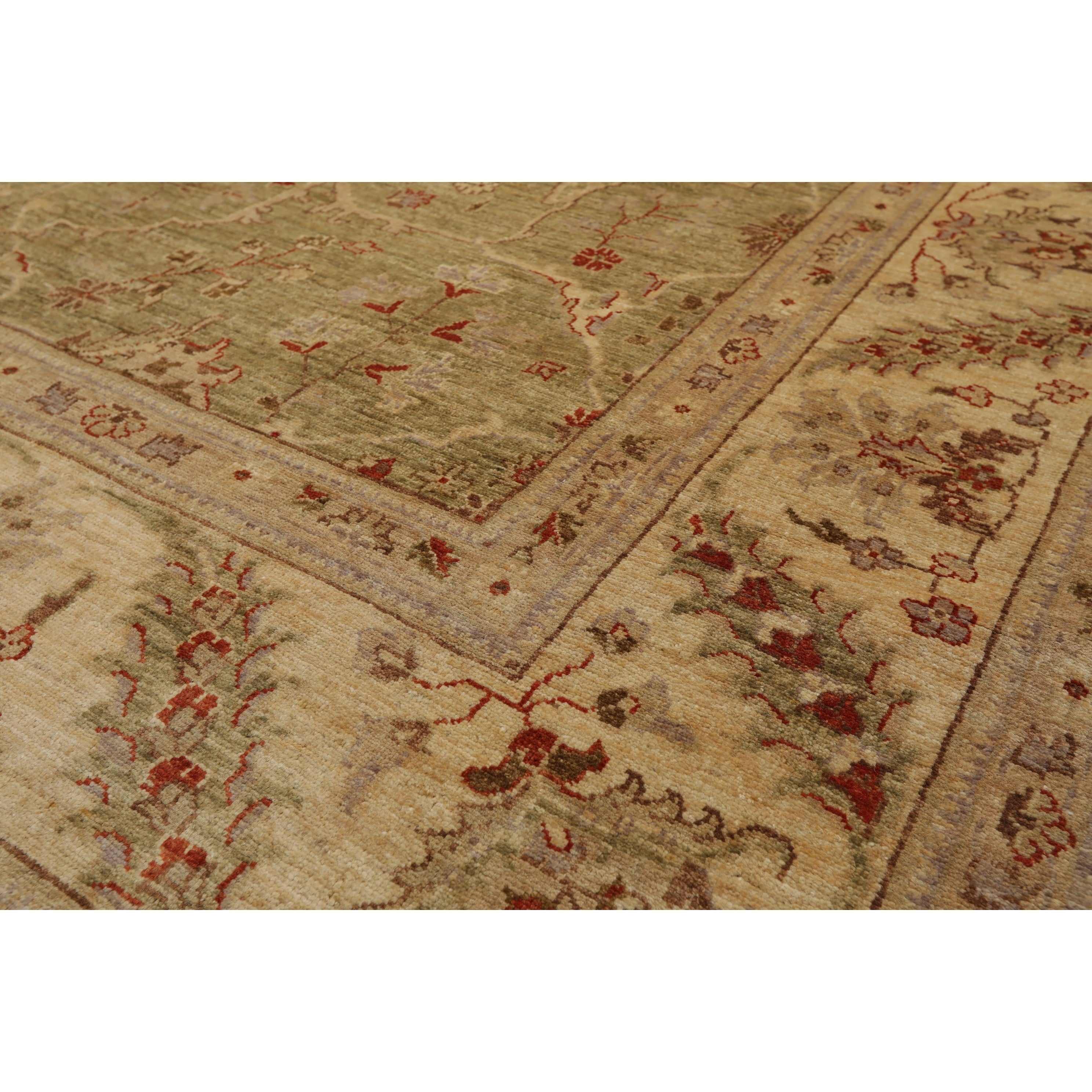 Peshawar Hand Knotted Sage Light Gold Wool Persian Oriental Area Rug 8x10 07 11 X 09 09 On Sale Overstock 31030193