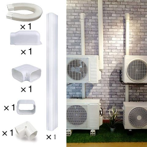 6.5 Ft L PVC Air Conditioner Line Set Cover Tubing White