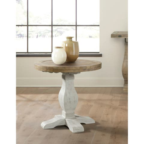 Martin Svensson Home Napa Round Solid Wood End Table