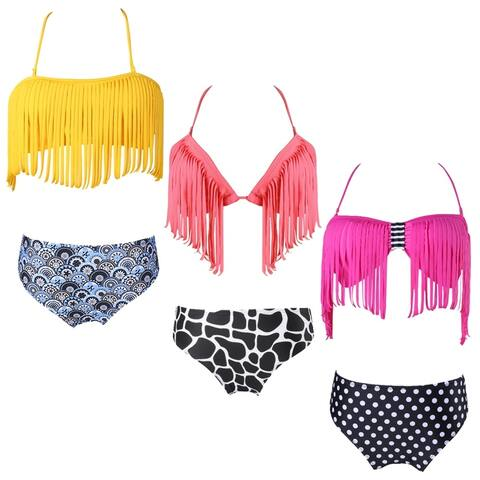 Cute and Colorful 2 Piece Bikini Style Swim Suit Beach Wear