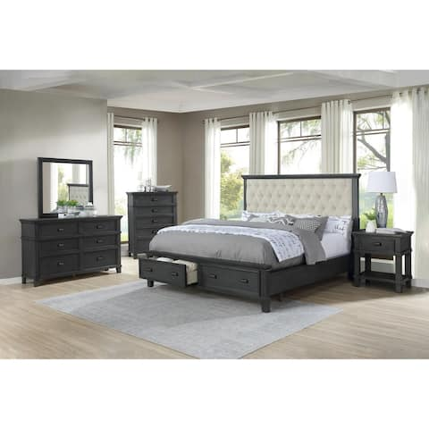 Best Quality Furniture Sandy 4-Piece Bedroom Set with Extra Chest