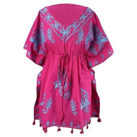 Peach Couture Summer Womens Cotton Cover-up Caftan Beachwear Tunic