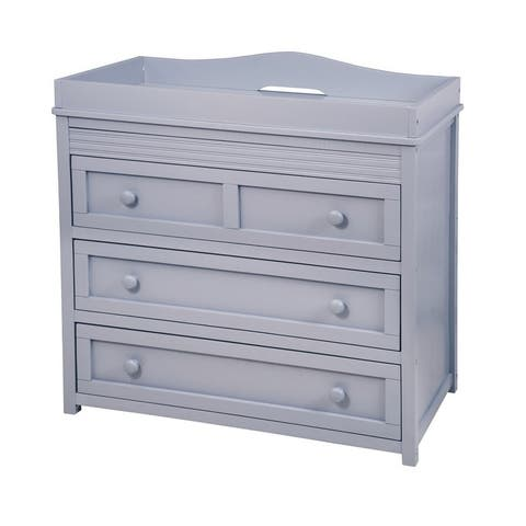 Mikaila Ariel II Two-drawer Baby Changer Dresser Grey