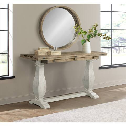 Martin Svensson Home Napa Flip Top Pedestal Sofa Console Table