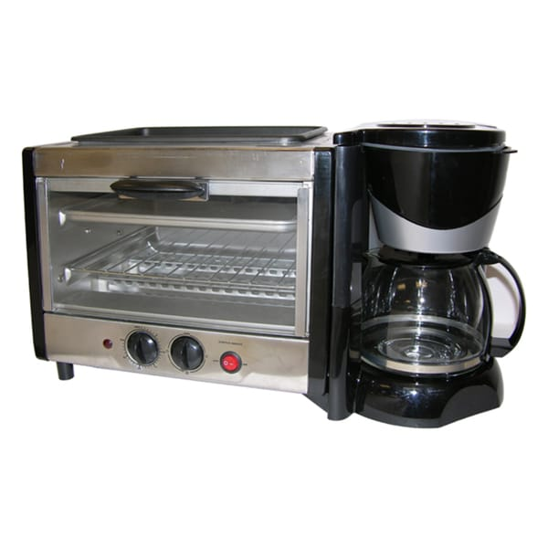 Shop 4 In 1 Breakfast Maker Toaster Oven Coffee Maker