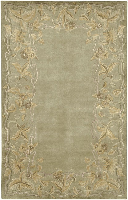 Hand-knotted Tan Karur Collection Semi-Worsted New Zealand Wool Rug (2'6 x 10') - Thumbnail 0