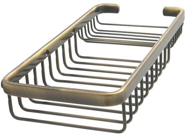 Allied Brass Rectangular Shower Basket with Soap Dish Insert