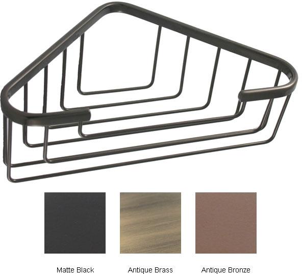 Allied Brass Large Corner Solid Brass Shower Basket