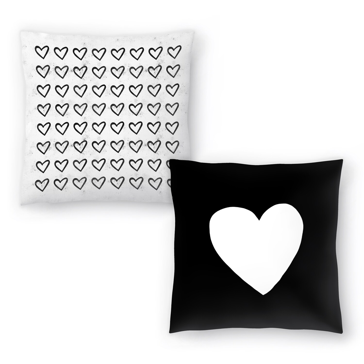 Big Heart And Big Heart Ink Splatter Set Of 2 Decorative Pillows On Sale Overstock 31033901
