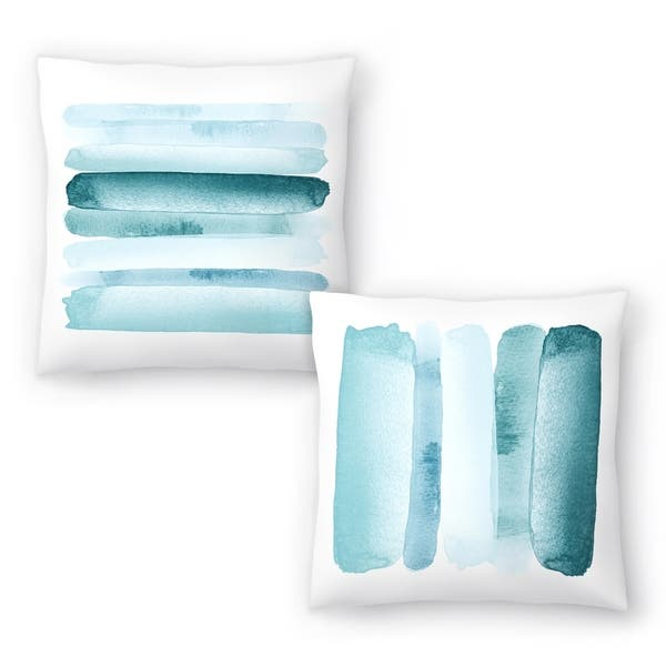 Rise Above Blue And Move Forward Blue Set Of 2 Decorative Pillows Overstock 31034153