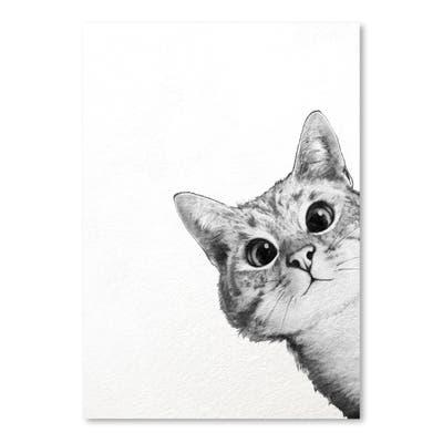 Sneaky Cat Poster Art Print