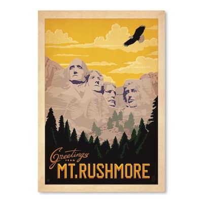 Mt Rushmore Poster Art Print