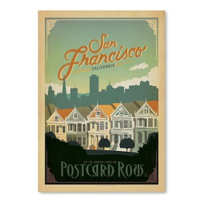 San Francisco Postcard Row Poster Art Print