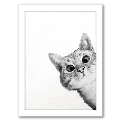 Sneaky Cat - Framed Print Wall Art