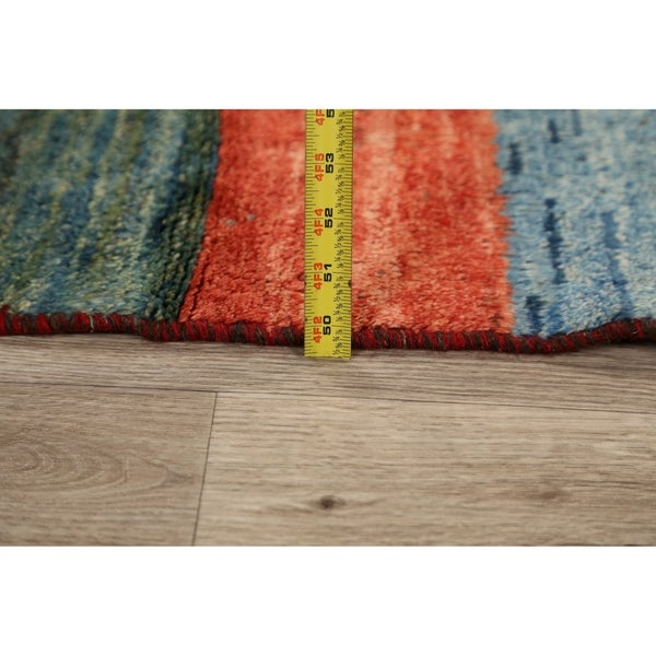 "Vintage Stripe Gabbeh Persian Kitchen Size Area Rug Hand-Knotted - 2'2"" x 4'2"""