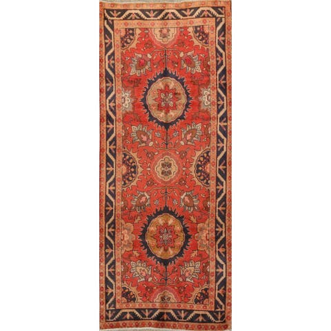"""Floral Sultanabad Persian Runner Rug Hand-Knotted Staircase Carpet - 3'6"""" x 9'5"""""""
