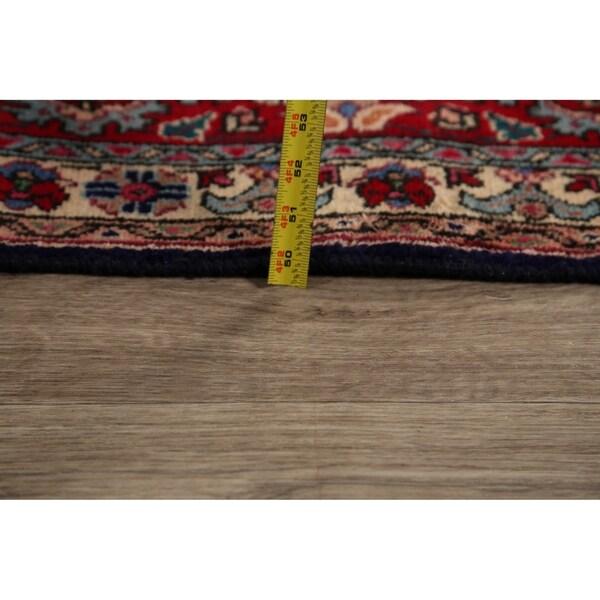"Decorative Navy Blue Paisley Tabriz Persian Area Rug Handmade - 7'6"" x 10'8"""
