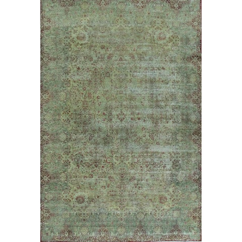 "Pre-1900 Antique Vegetable Dye Kerman Lavar Persian Area Rug Handmade - 10'5"" x 15'4"""