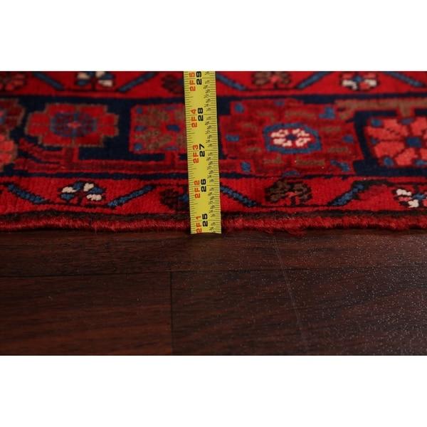 "Tribal Geometric Nahavand Persian Long Runner Rug Hand-Knotted - 3'7"" x 16'0"""