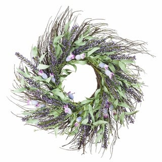 "Link to Enova Home 24"" Mixed Spring Artificial Flower Wreath Home Decoration Similar Items in Decorative Accessories"