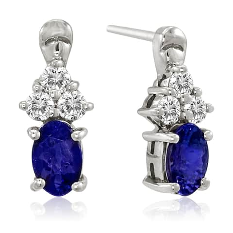 Encore by Le Vian Tanzanite & Chocolate Diamond 14K White Gold Earrings