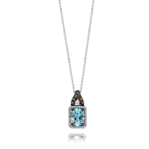 Encore by Le Vian Aquamarine & Chocolate Diamond 14K White Gold Pendant