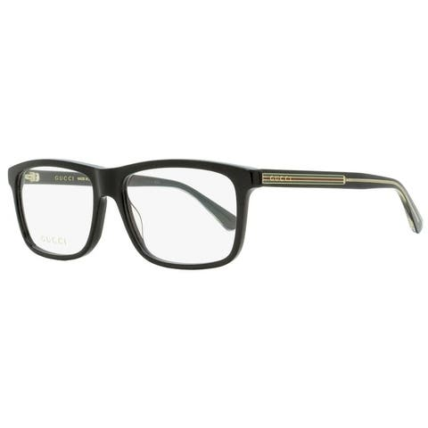 Gucci GG0384O 004 Mens Black/Transparent 57 mm Eyeglasses