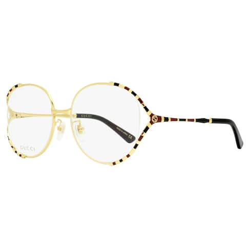 Gucci GG0596OA 003 Womens Gold/Black 58 mm Eyeglasses