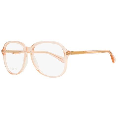 Gucci GG0259O 005 Womens Peach/Rose Transparent 55 mm Eyeglasses - Peach/Rose Transparent