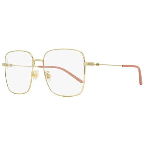 Gucci GG0445O 001 Womens Gold/Pink 56 mm Eyeglasses