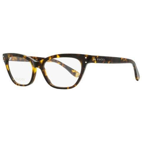 Gucci GG0570O 006 Womens Havana 52 mm Eyeglasses
