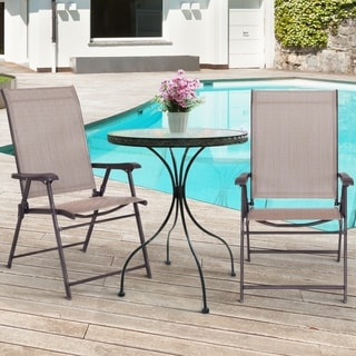 Link to Folding Sling Chair Patio Furniture Set of 2 Armchairs Brown Similar Items in Vacuums & Floor Care