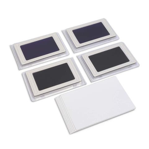 4 Pack Clean Touch Ink Pad with Cards for Newborn Baby Hand Foot Prints, Baby Shower Party, 2.25 x 3.75 inches - Multi