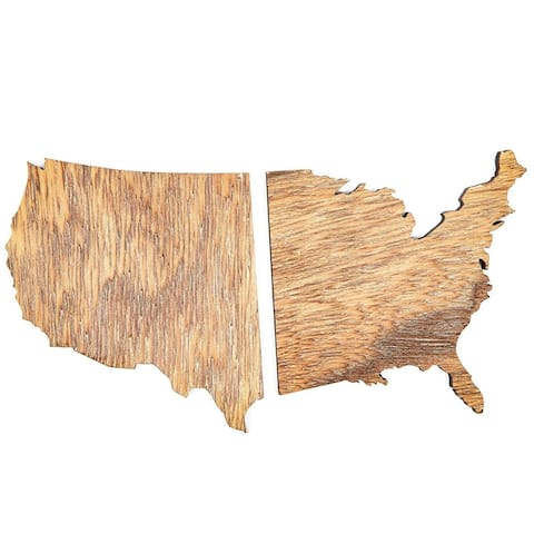 """12 Pack Wood East & West Coast Coasters 3.8"""" for Drink Cups Home Decor DIY Crafts"""